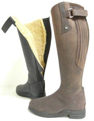 Vysoké jezdecké kožené boty zateplené Kalle K 6262