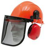 Dřevorubecká helma Granit v kombinaci se sluchátky a ochranným štítem