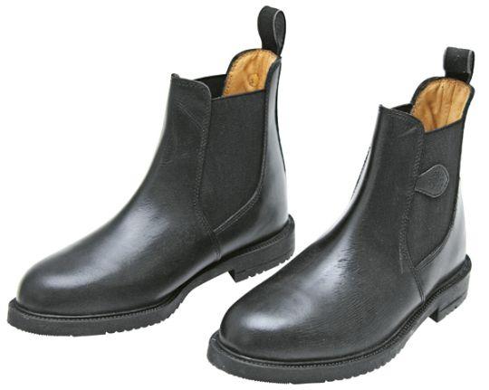 Nízké kožené jezdecké boty - jezdecká perka
