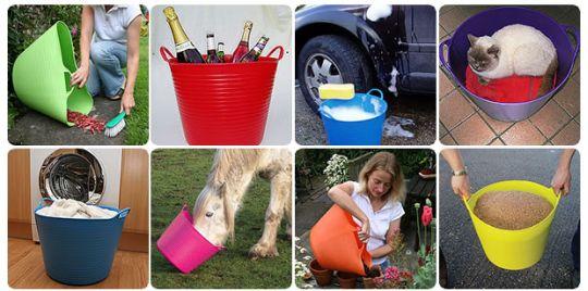 Tubtrugs - plastová pružná vědra a ošatky pro všestranné využití v chovatelství, na zahradě i v domácnosti
