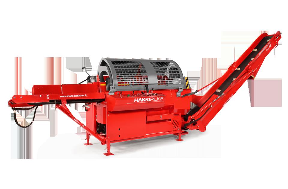 Kombinovaný procesor HakkiPilke 35 Combi na zpracování palivového dřeva