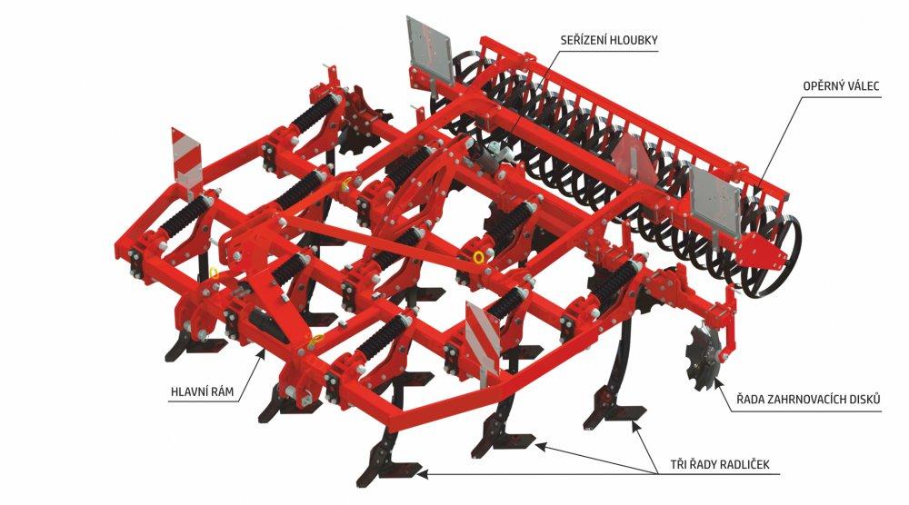 Radličkový kypřič OPaLL-AGRI TRITON II