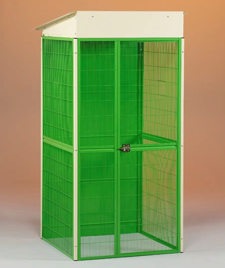 Venkovní veliéra pro drůbež se základnou 1x1 m