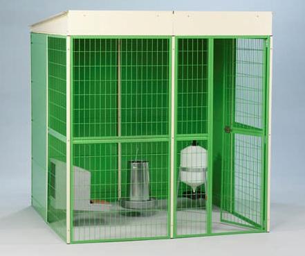 Venkovní veliéra pro drůbež se základnou 2x2 m