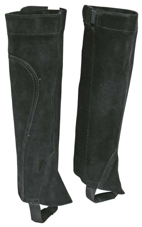 Minichapsy k jezdeckým botám kožené černé